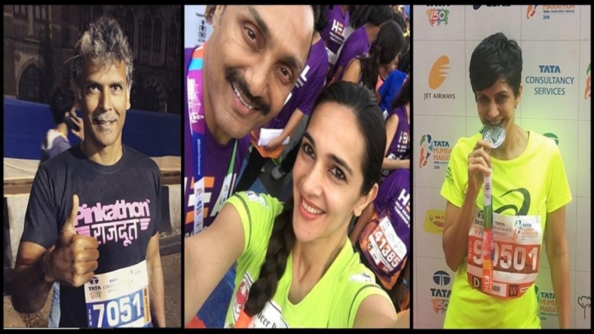 Mumbai Marathon 2018 In Pictures: Bollywood celebs join Mumbaikars in 15th edition of Marathon