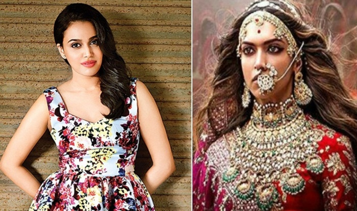 Felt reduced to a vagina only, says Swara Bhaskar on 'Padmaavat'; faces backlash from Bollywood folks