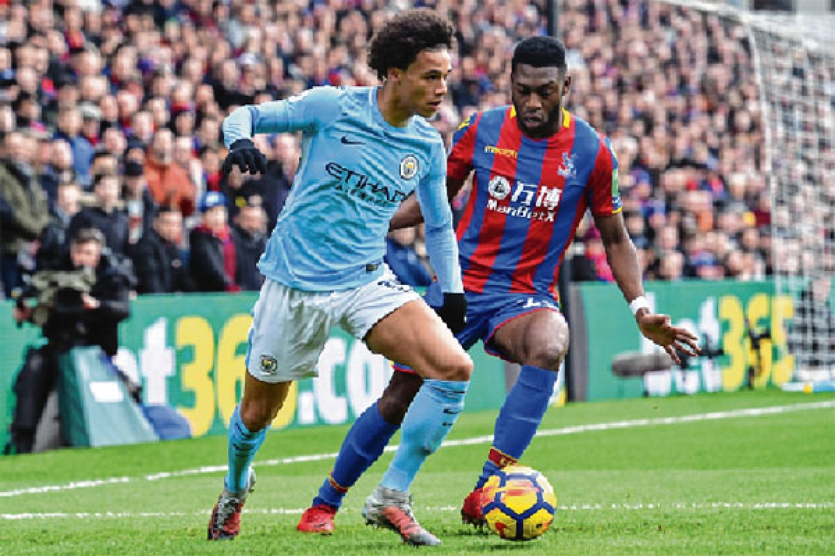 Man City's winning streak halted by Crystal Palace