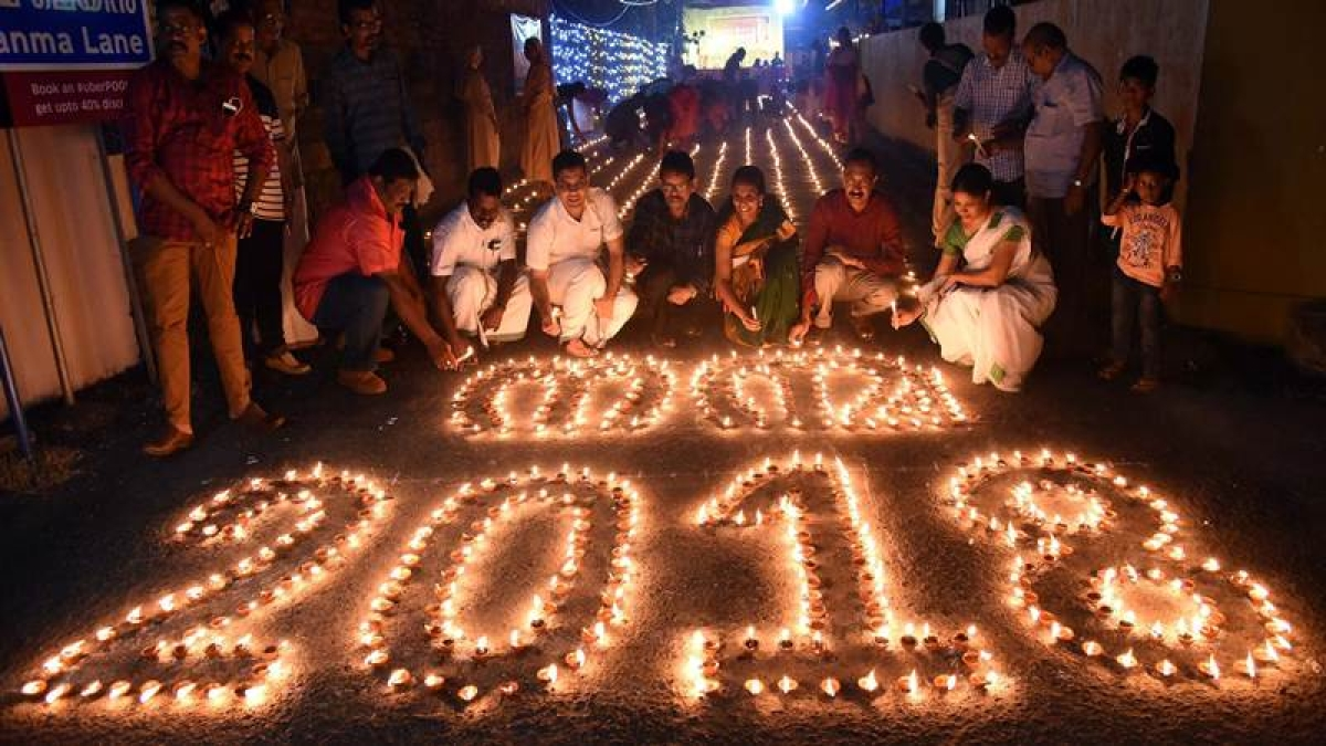 "Kochi: A New year celebration ""Nanma"" 2018 at Puthukkalavattom in Kochi on Sunday. PTI Photo"