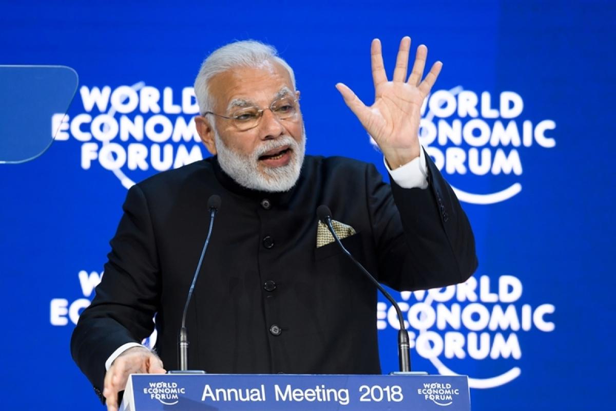 PM Narendra Modi: Statesman like in Davos