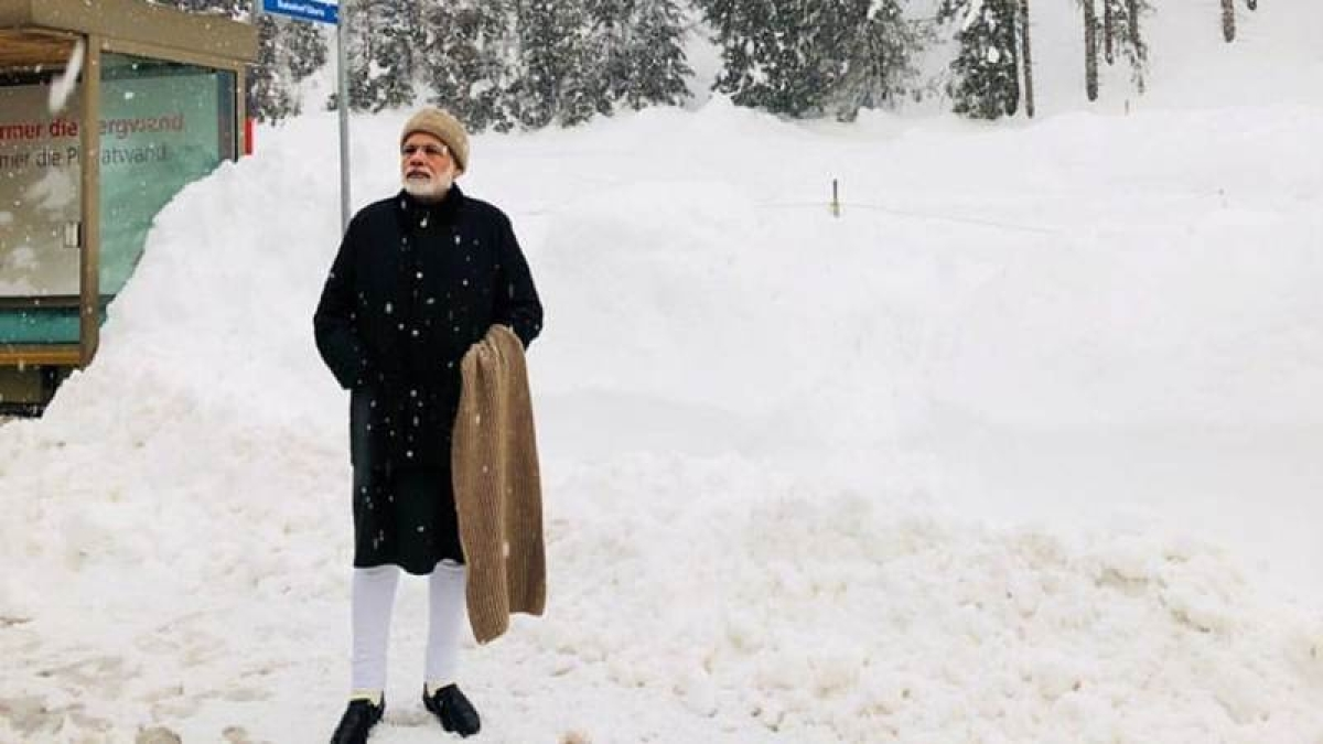 Narendra Modi in Davos: Indian PM's snow memes go viral; and they are hilarious