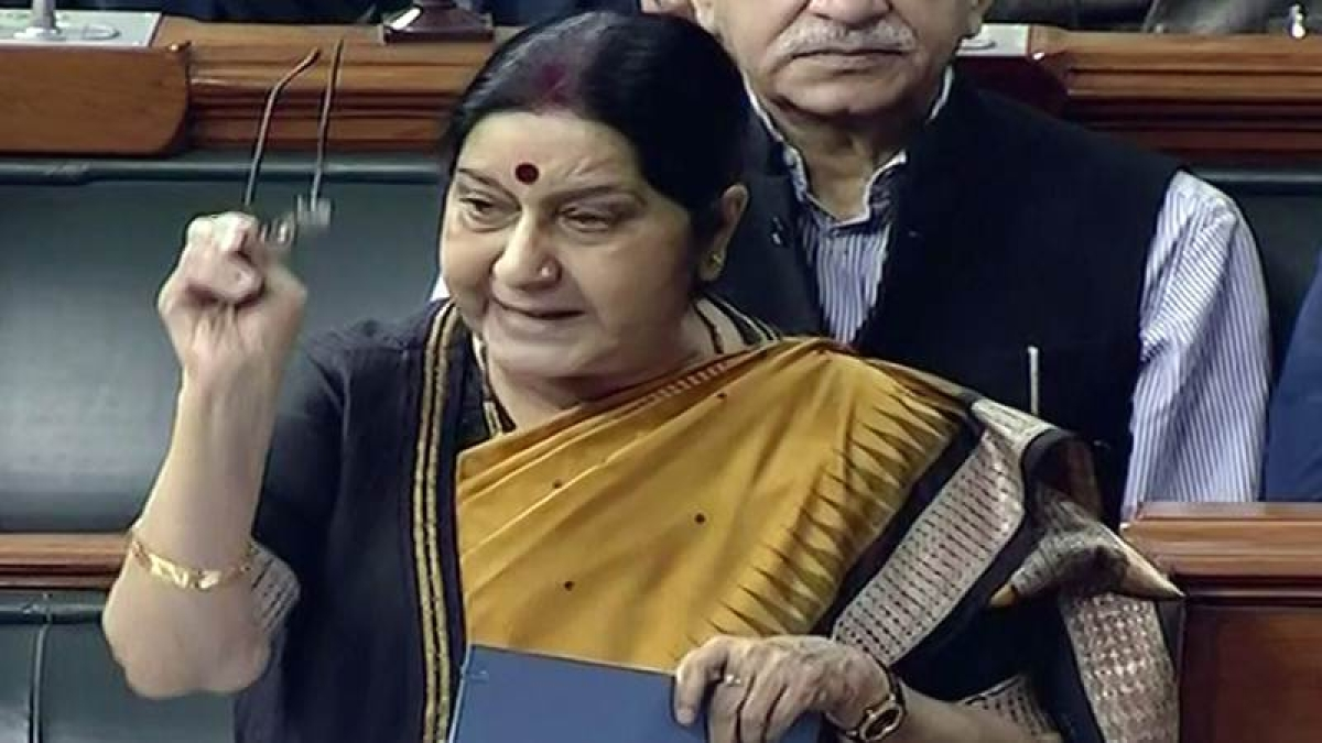 India Pakistan Series unlikely till Pak stops terrorism: Sushma Swaraj to Parliamentary panel