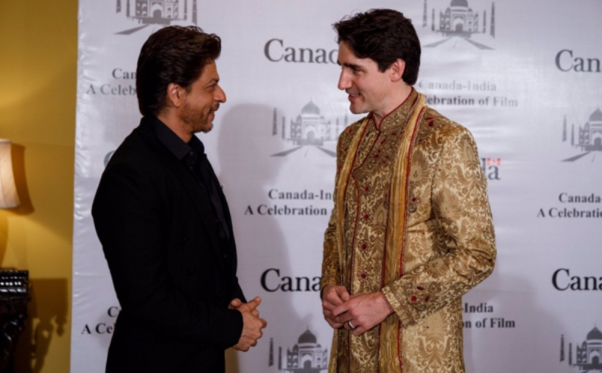 What exactly did Shah Rukh Khan and Canadian Prime Minister Justin Trudeau discuss when they met?