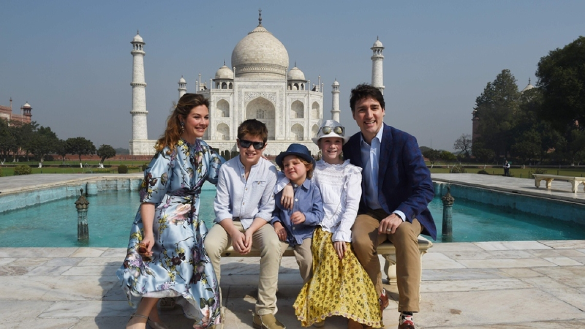 In pictures: Canadian PM Justin Trudeau with family visits Taj Mahal, gets nostalgic