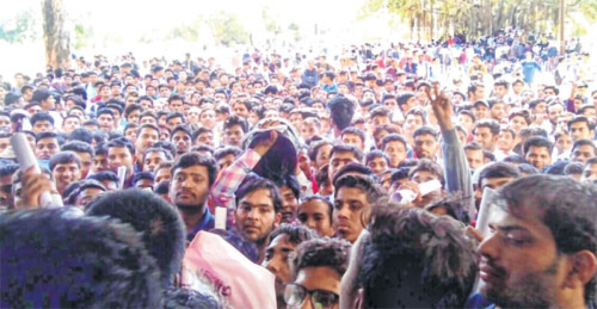 Indore: Chaos in ITI as 4,000 aspirants turn up for 300 jobs