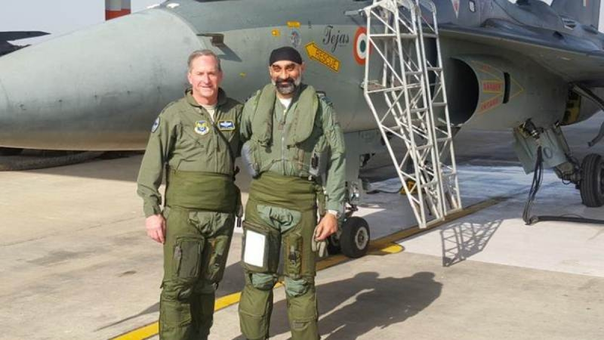 USAF chief flies on 'Made-in-India' Tejas aircraft over Jodhpur skies