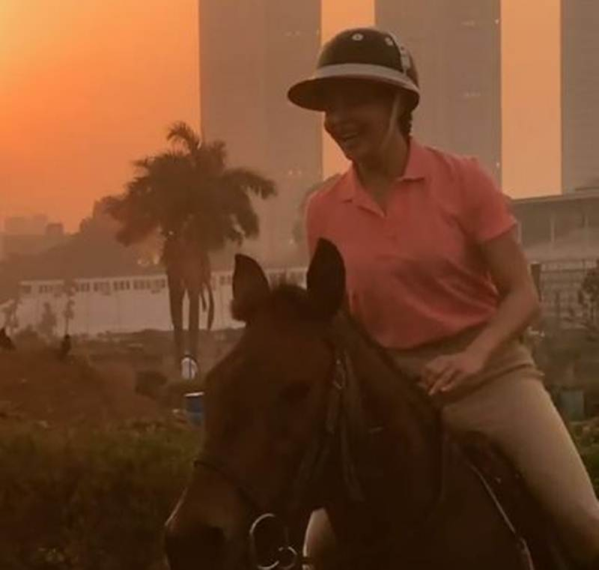 After Pole dancing and sketching Jacqueline Fernandez is Horse riding!