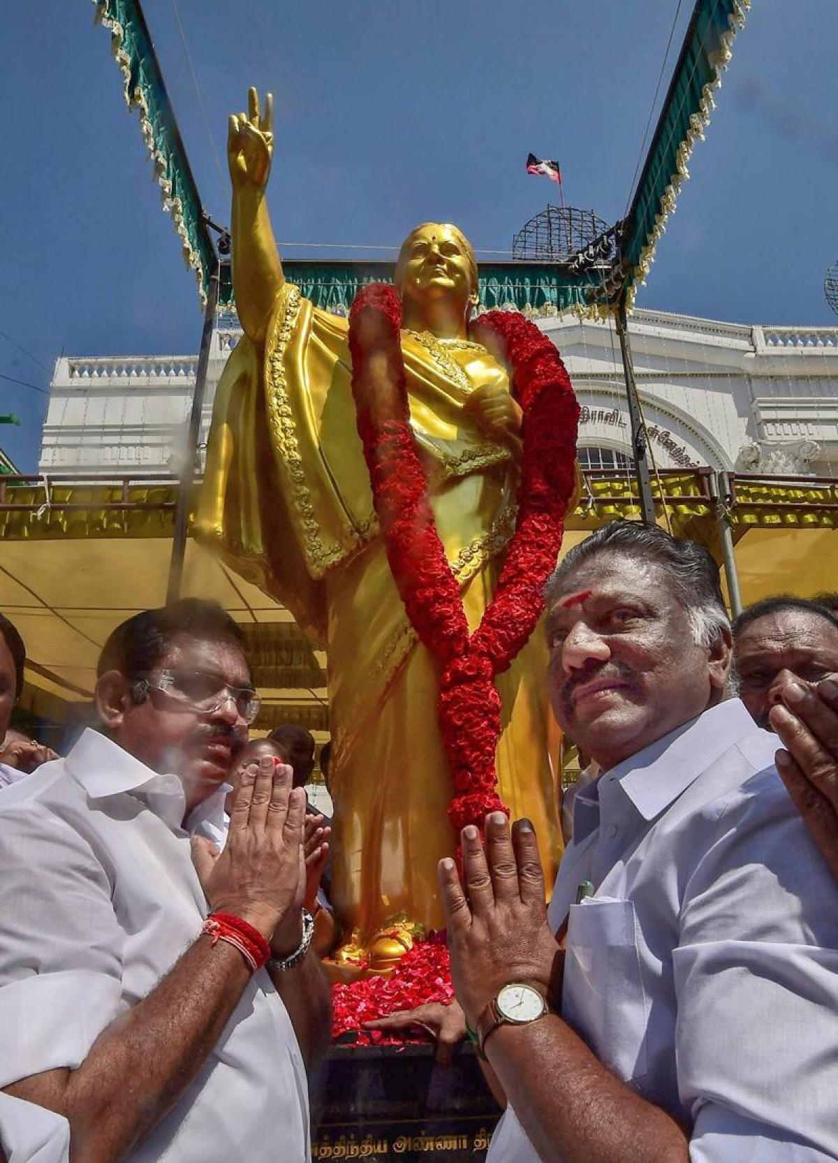 Jayalalithaa 70th birth anniversary: Former Tamil Nadu CM's statue unveiled at AIADMK headquarters