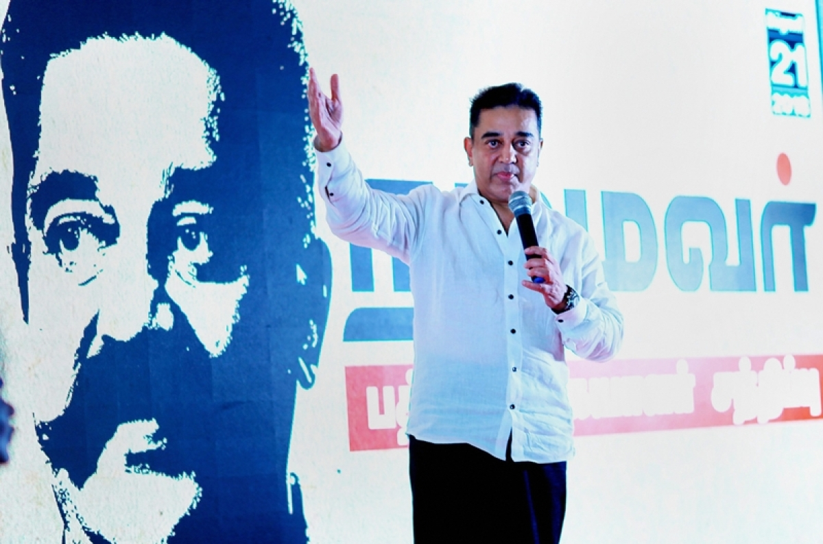 Vandalising Periyar's statue was to divert attention from issues like Cauvery water dispute: Kamal Haasan