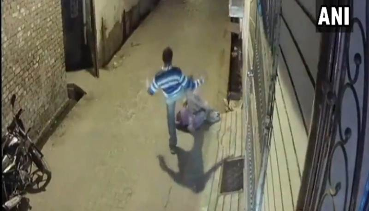 Watch Video: Man brutally thrashes old woman on streets of UP's Bareilly