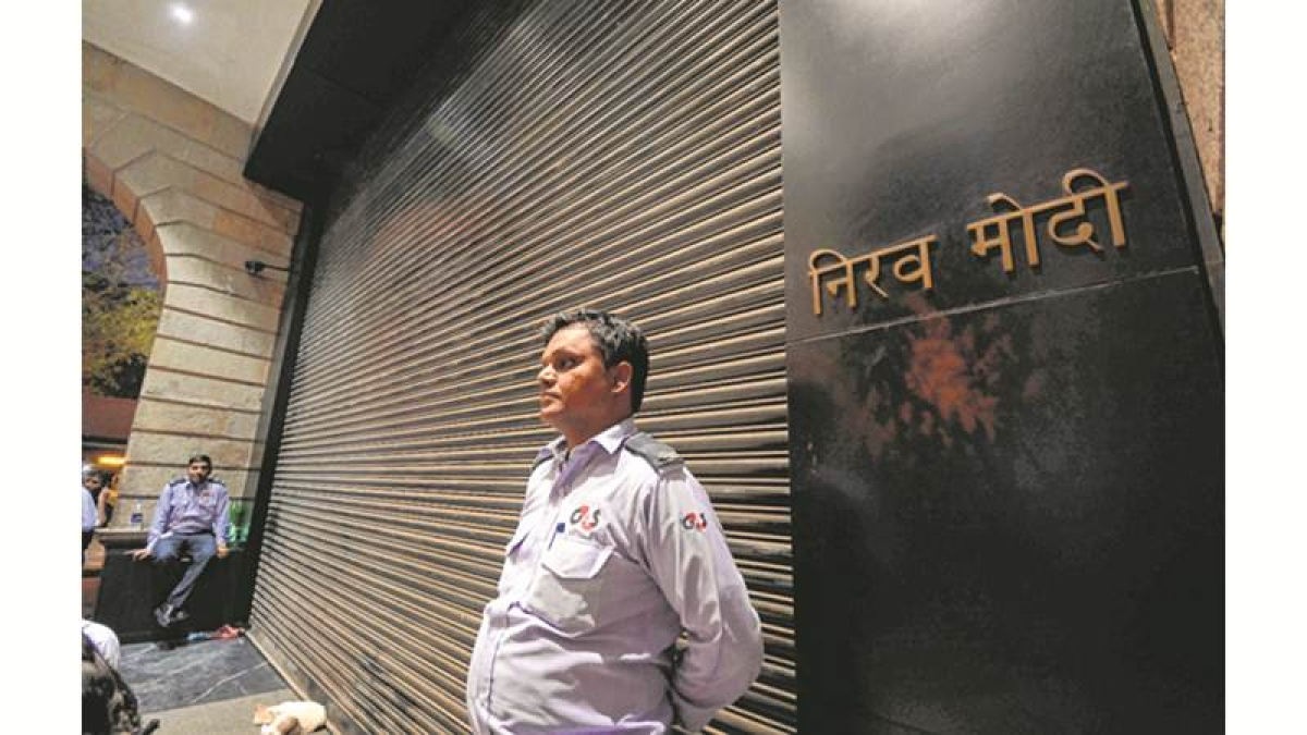 Mumbai : Nirav Modi jewellery showroom at Kala Ghoda in Mumbai on Thursday. Enforcement Directorate is conducting searches at Nirav Modi's home, showrooms and offices in Mumbai, following Punjab National Bank's (PNB) complaint of massive fraudulent transactions to benefit the celebrity jeweller. Photo by BL SONI