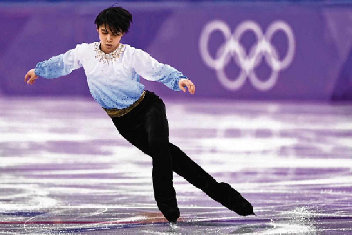 Hanyu dazzles, Shiffrin flops