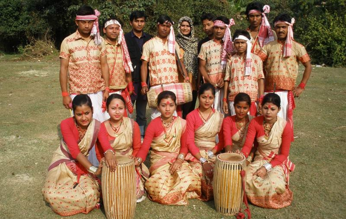 Bihu dancers from the Northeast