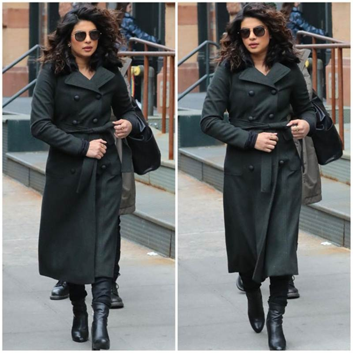 Priyanka Chopra is heavily armed on the sets of 'Quantico 3' in NYC