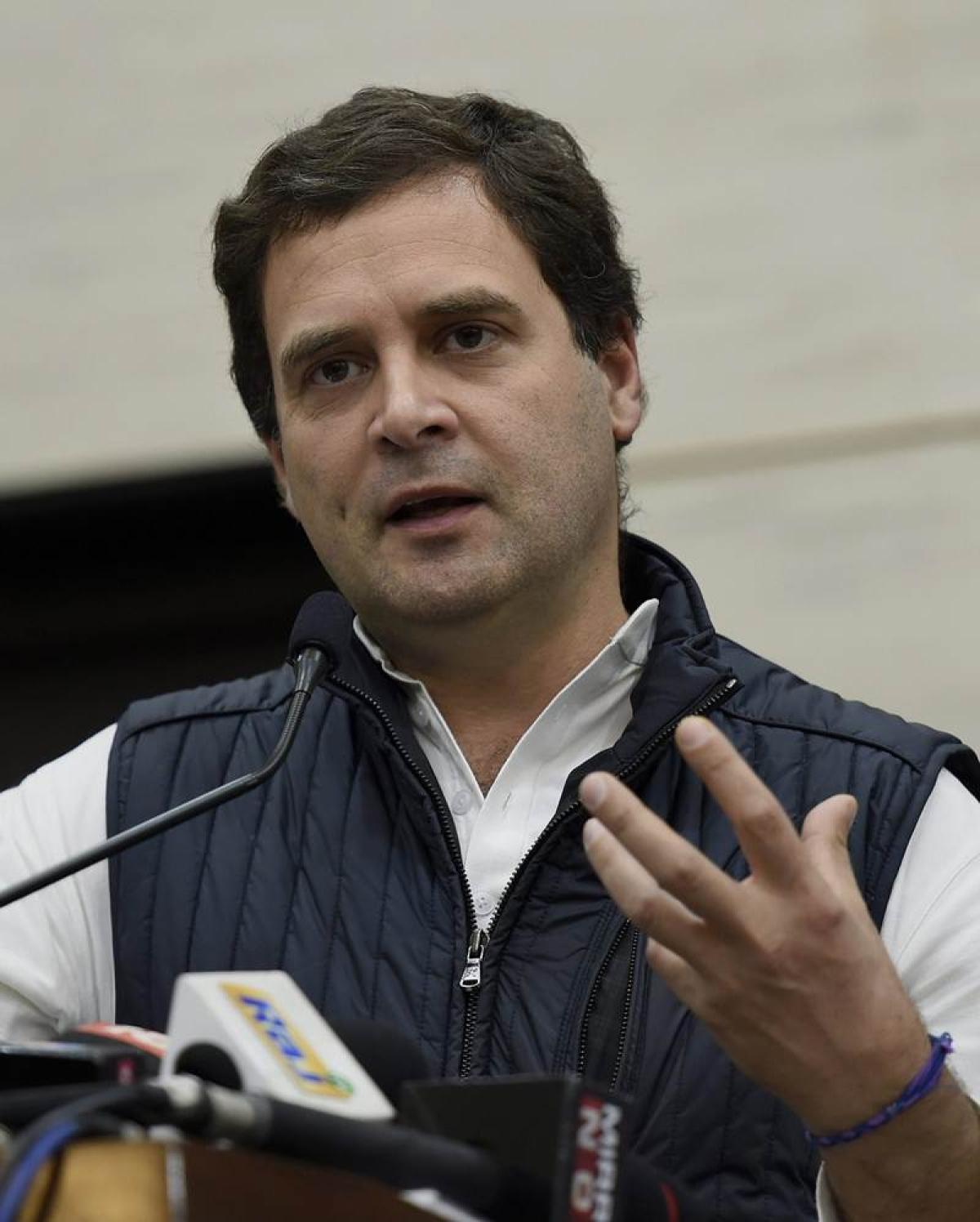 Rahul's dig at collapsing judiciary