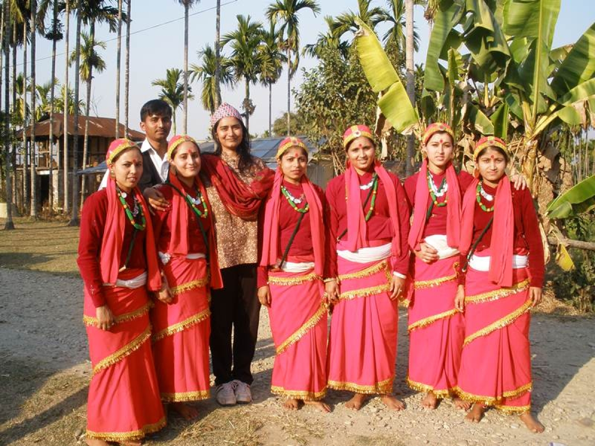Nepali Commune Dancers at Tinsukia Assam