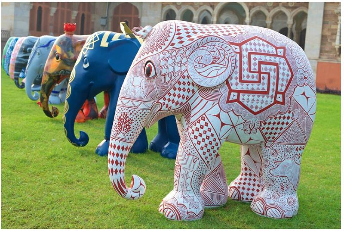 A selection of elephants at Albert Hall Museum during the Jaipur preview