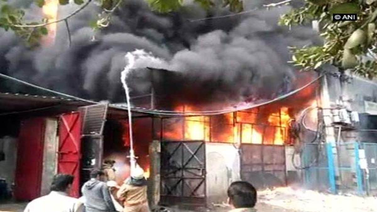 Delhi: Fire breaks out in two shoe factories