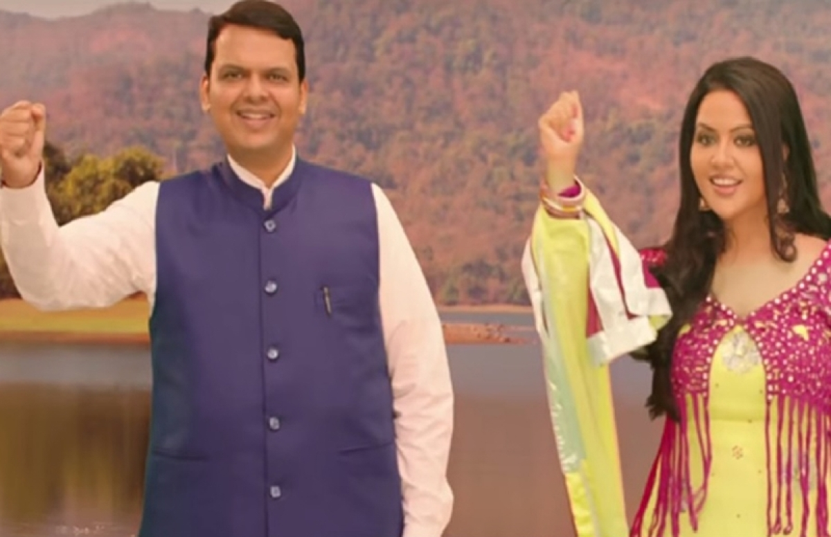 AAP slams CM Devendra Fadnavis, wife Amruta swaying to a song on Mumbai's rivers