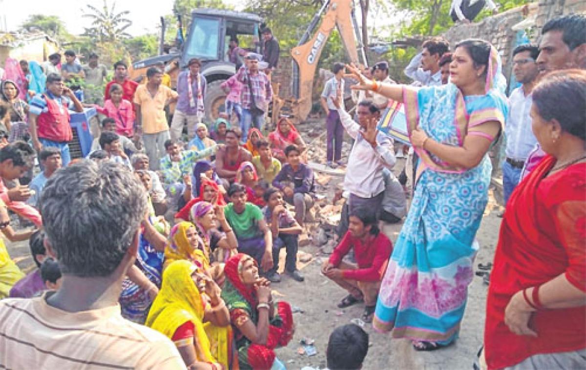 UMC demolishes houses built on govt land