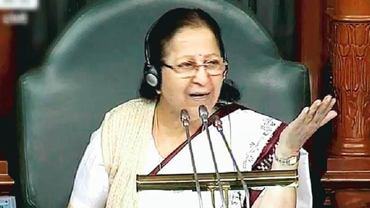 Even I am not being allowed to speak in Lok Sabha: Speaker Sumitra Mahajan