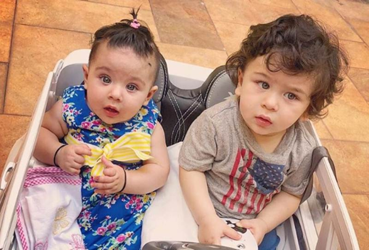 Taimur and Inaaya, Bollywood's famous cousins, clicked in one frame! How would you describe this picture?