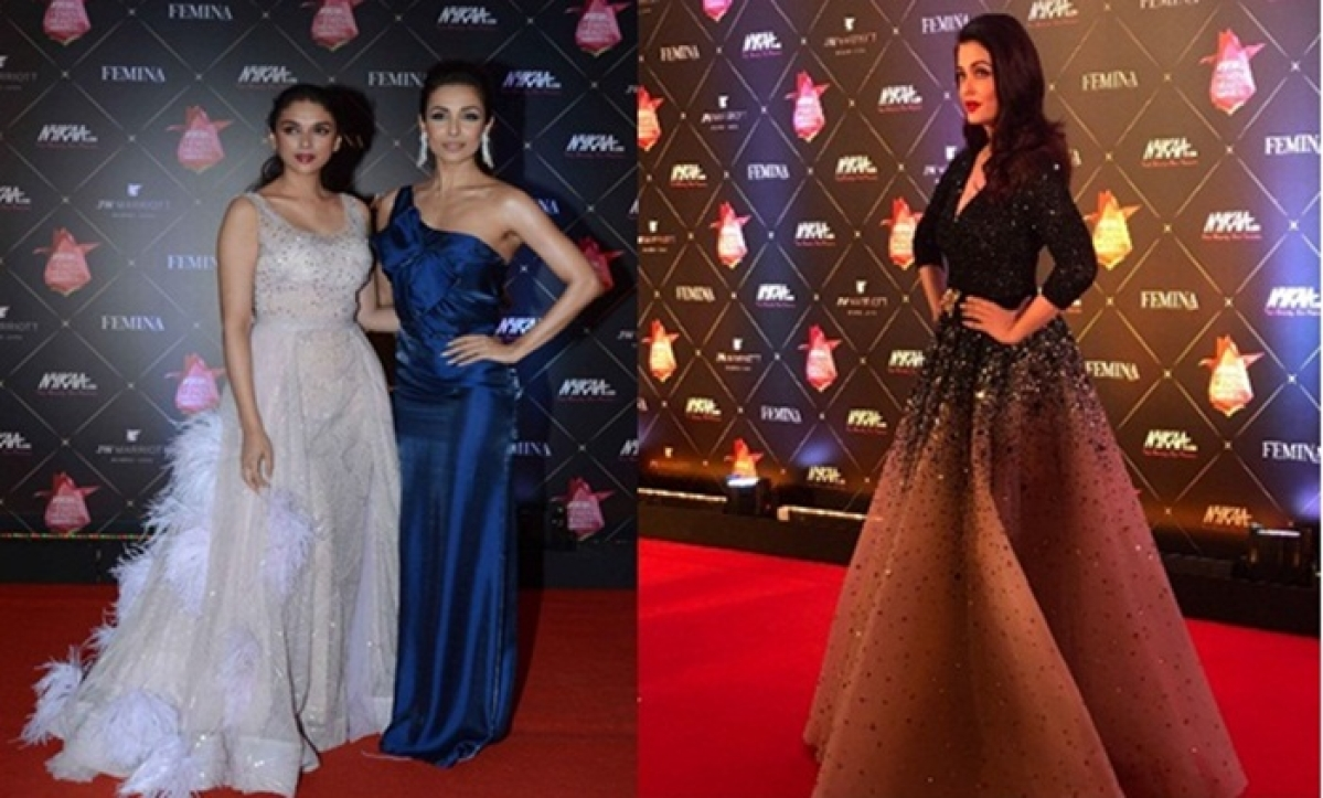 Who wore what at Nykaa Femina Beauty Awards 2018: Red carpet pics of Aishwarya Rai, Aditi Rao Hydari, Malaika Arora