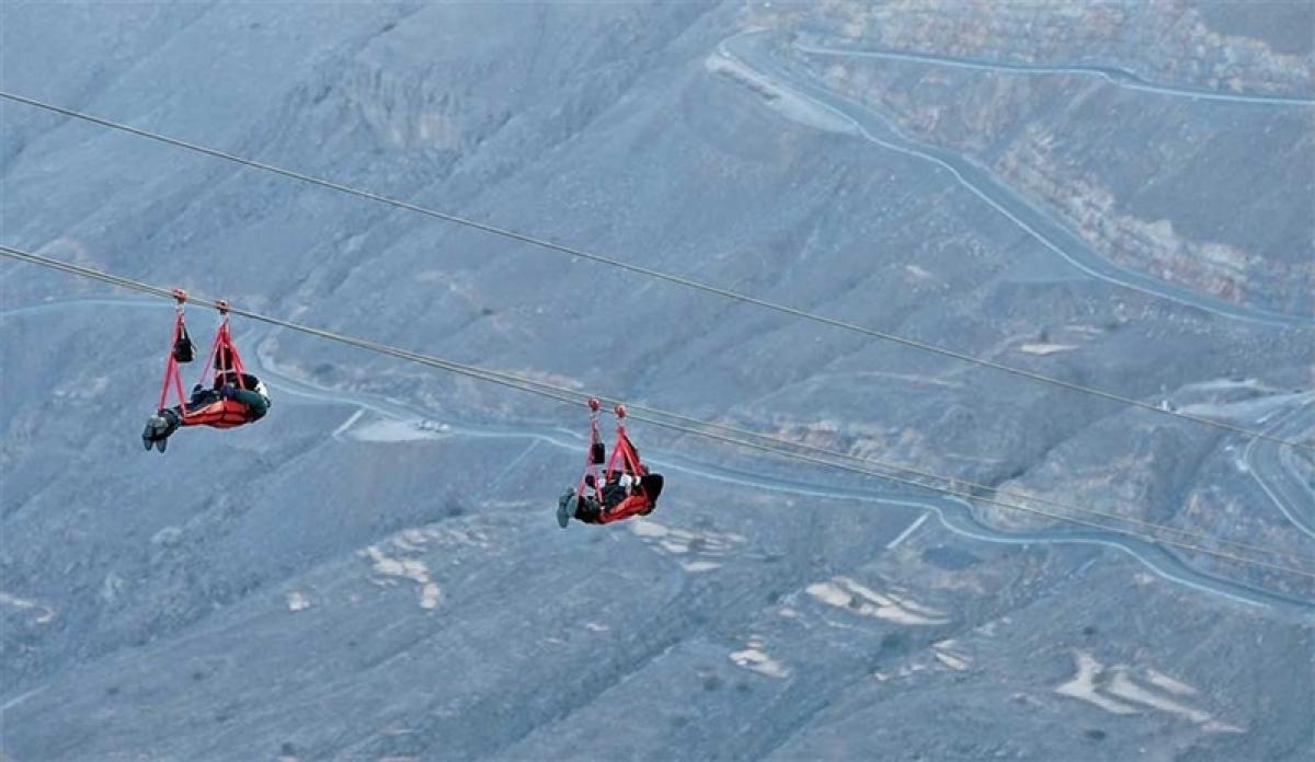 UAE launches world's longest zip line