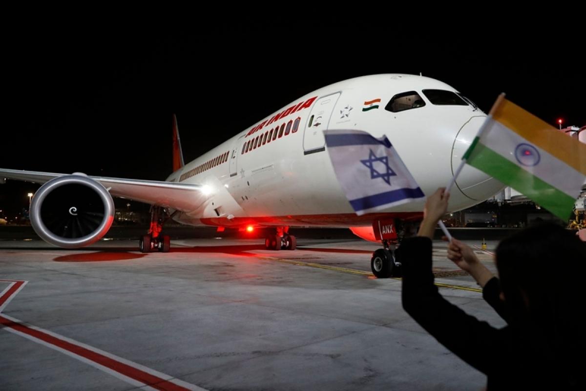 Air India's maiden direct flight to Tel Aviv reaches Ben Gurion airport