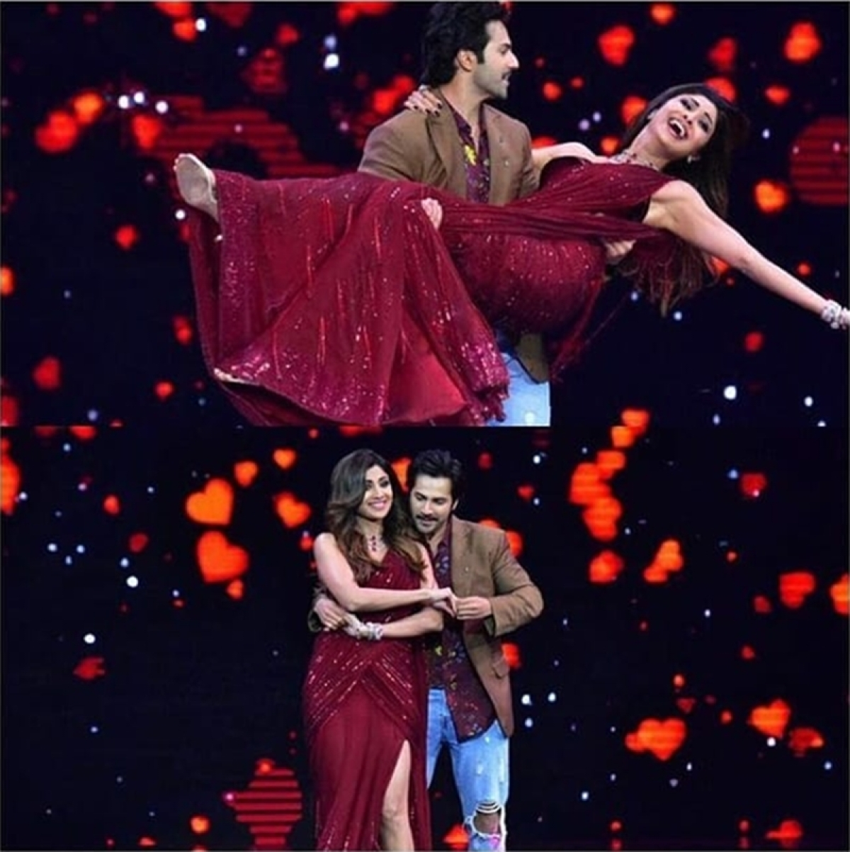 In Pictures: 'October' star Varun Dhawan burns the dance floor with gorgeous Shilpa Shetty at Super Dancer Chapter 2 finale