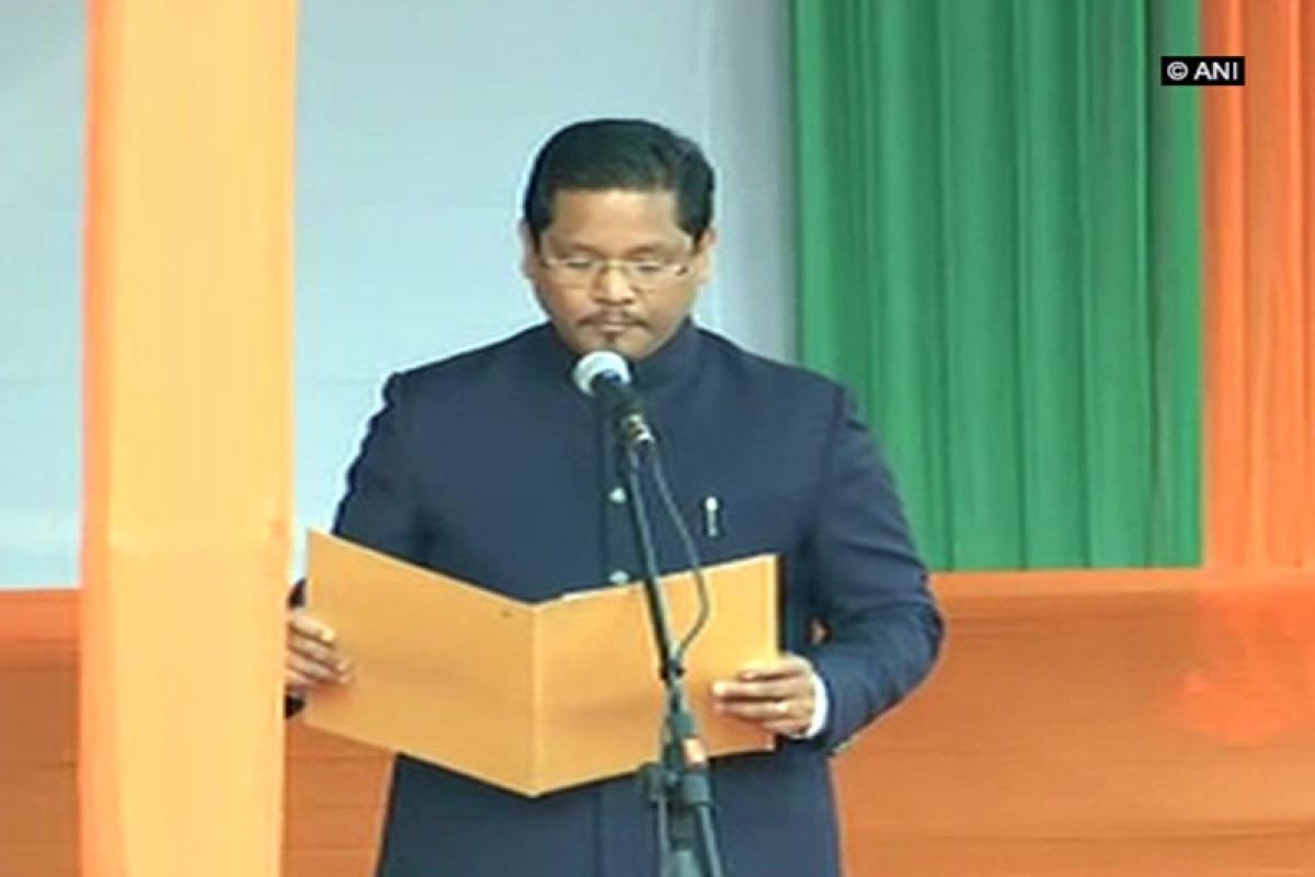 Conrad Sangma takes oath as Meghalaya Chief Minister