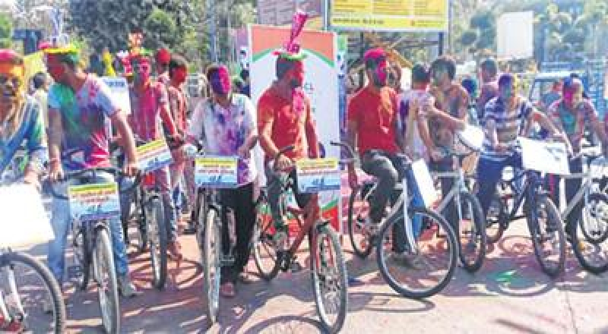 Ujjain: Cycle Ger spreads message of cleanliness among citizens
