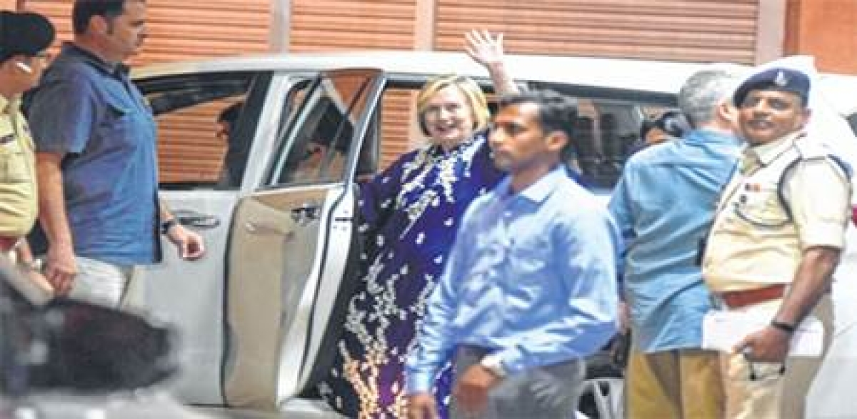 Indore: Hillary arrives on 3-day visit to state