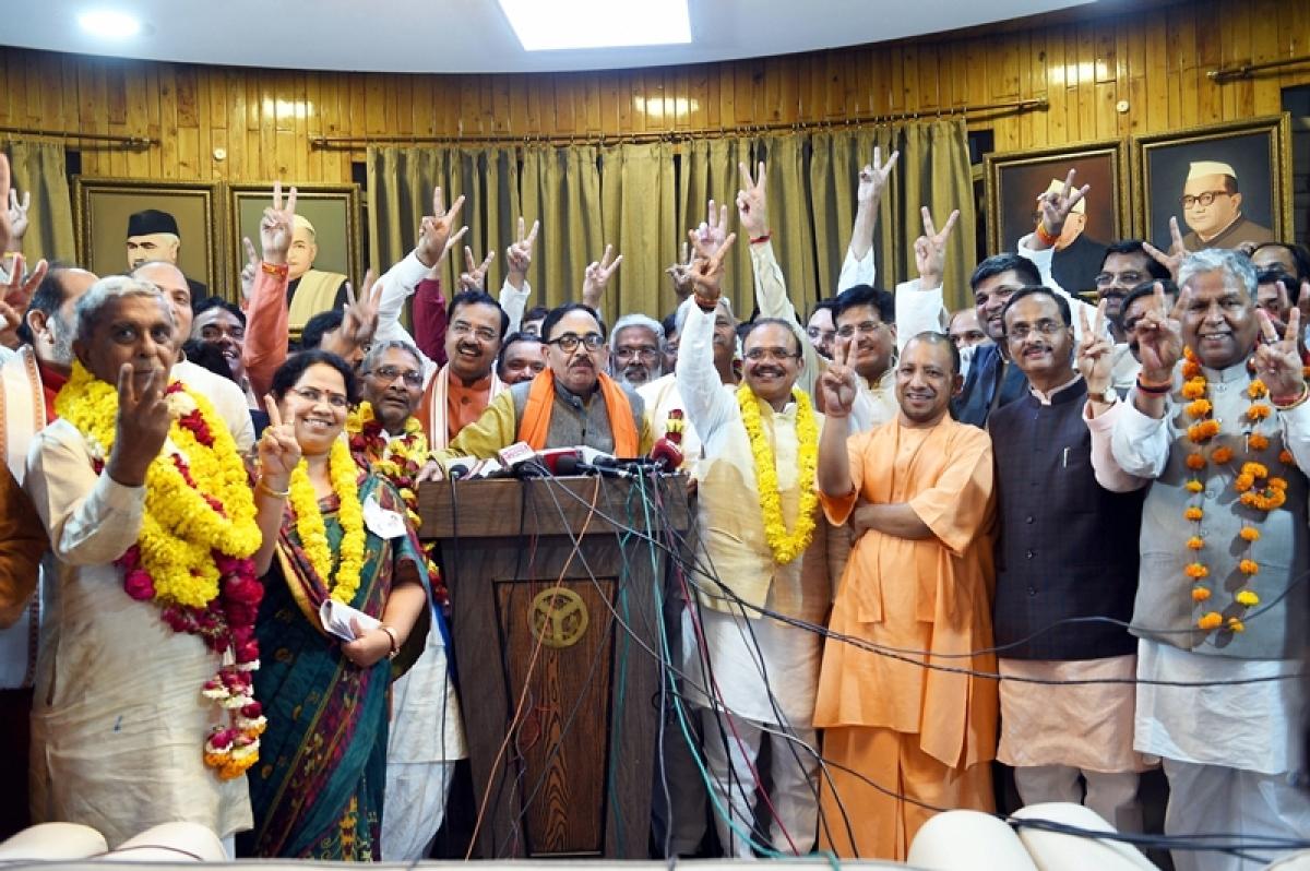 Rajya Sabha elections 2018: BJP bags 12 of 25 upper house seats, outwits SP-BSP combine in Uttar Pradesh