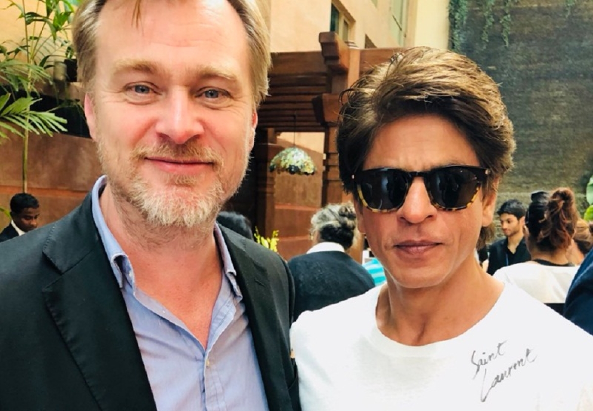 Shah Rukh Khan's fanboy moment with Christopher Nolan; see pic
