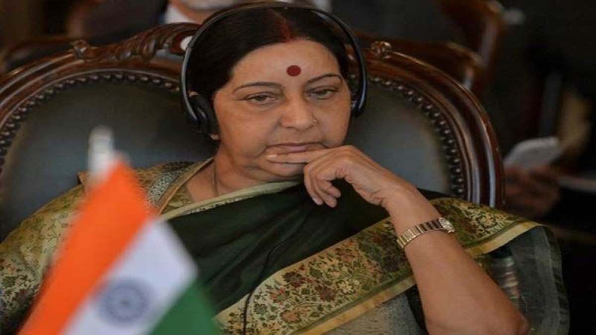 Sushma Swaraj's plane goes missing for 14 minutes