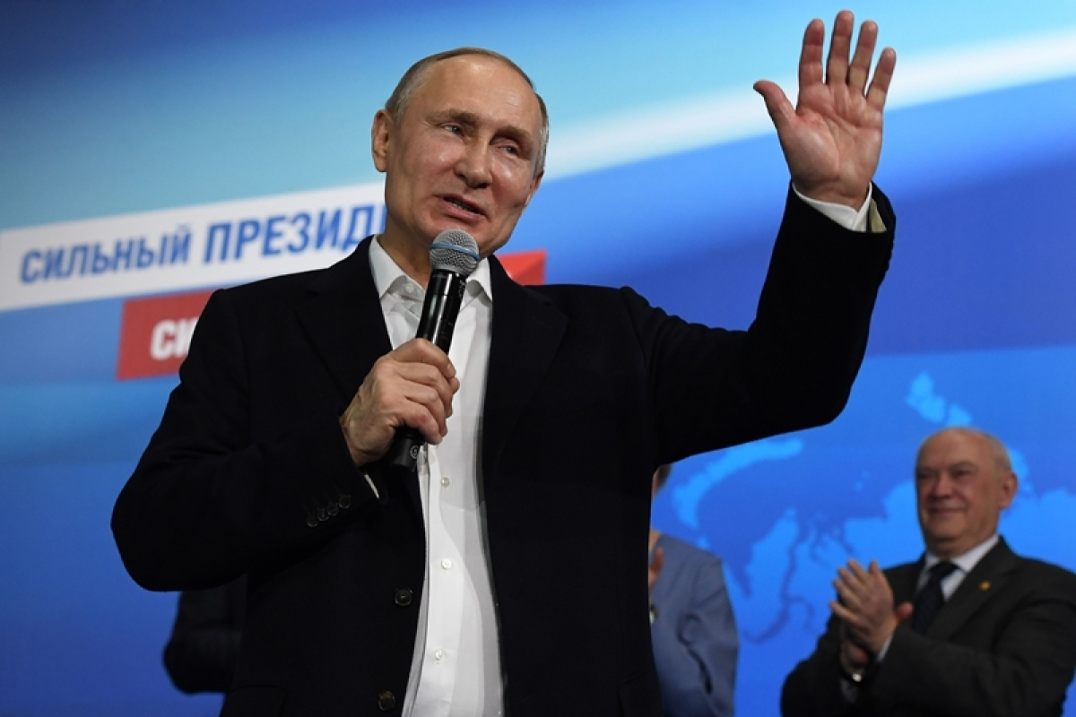 Vladimir Putin storms to landslide election win, to lead Russia for another six years