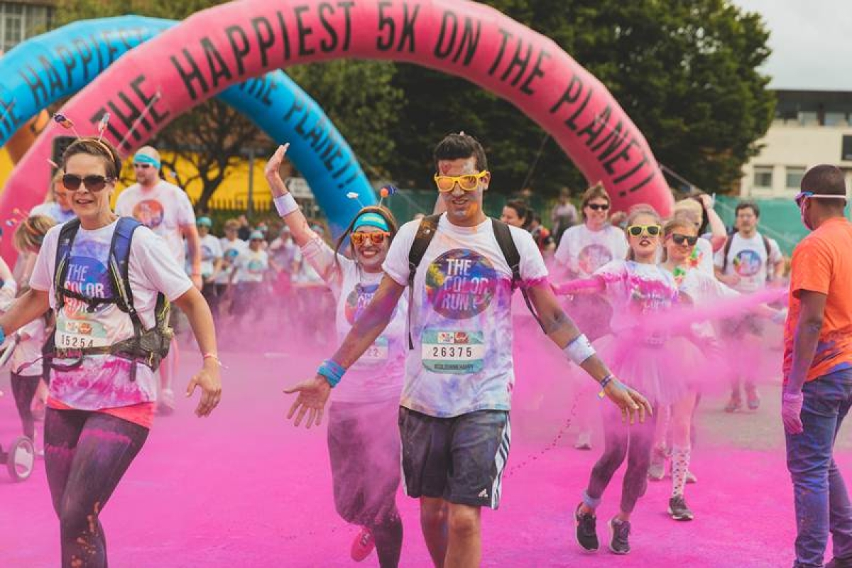 Happy faces at the Color Run