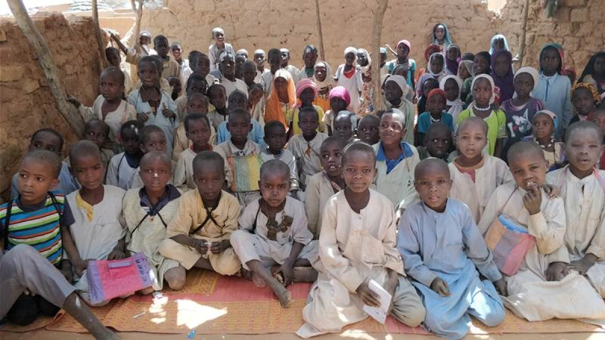 A primary school for the Sudanese refugee kids