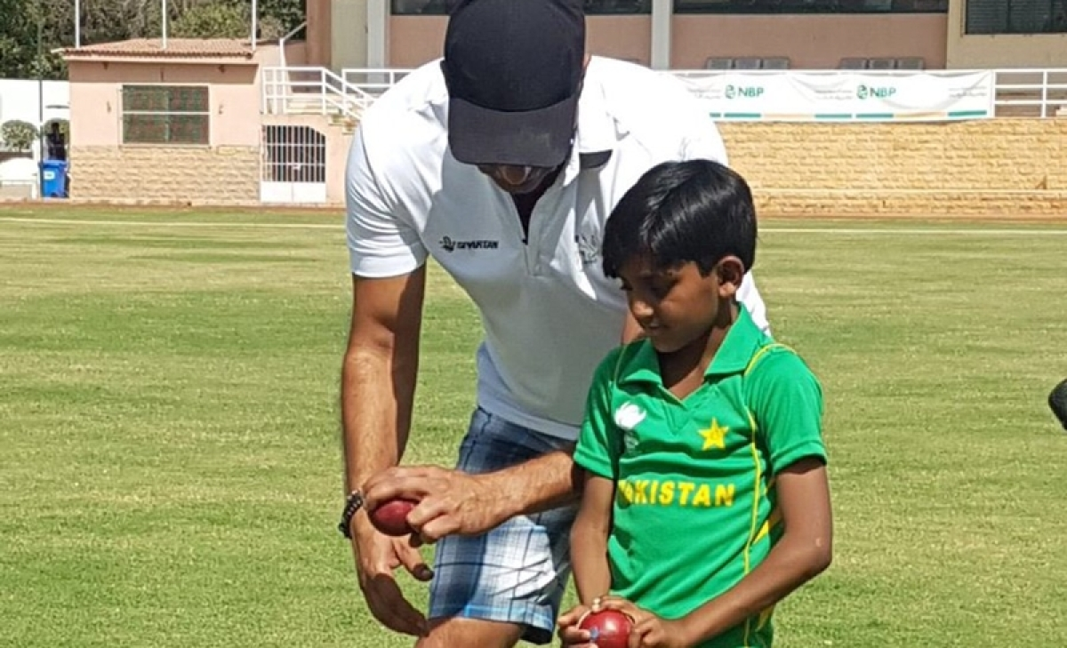 See photos: Pakistan legend Wasim Akram becomes bowling coach of wonder kid Hassan Akhtar