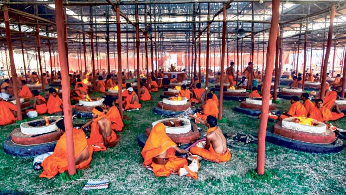 Yogi rings in first year with music and dance