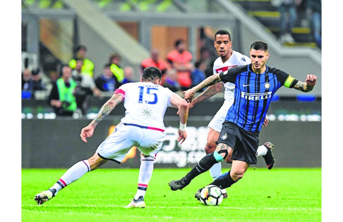 Inter Milan move third to put pressure on Roman rivals