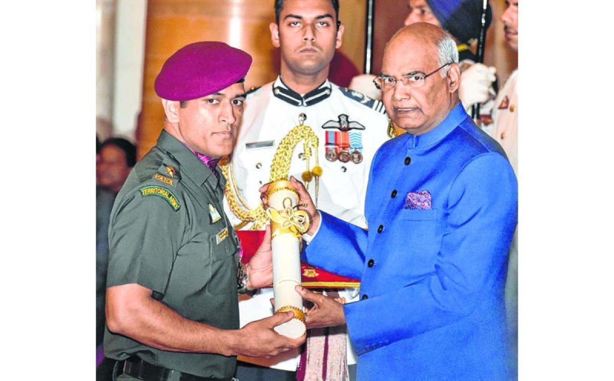 Lt Col MS receives Padma Bhushan