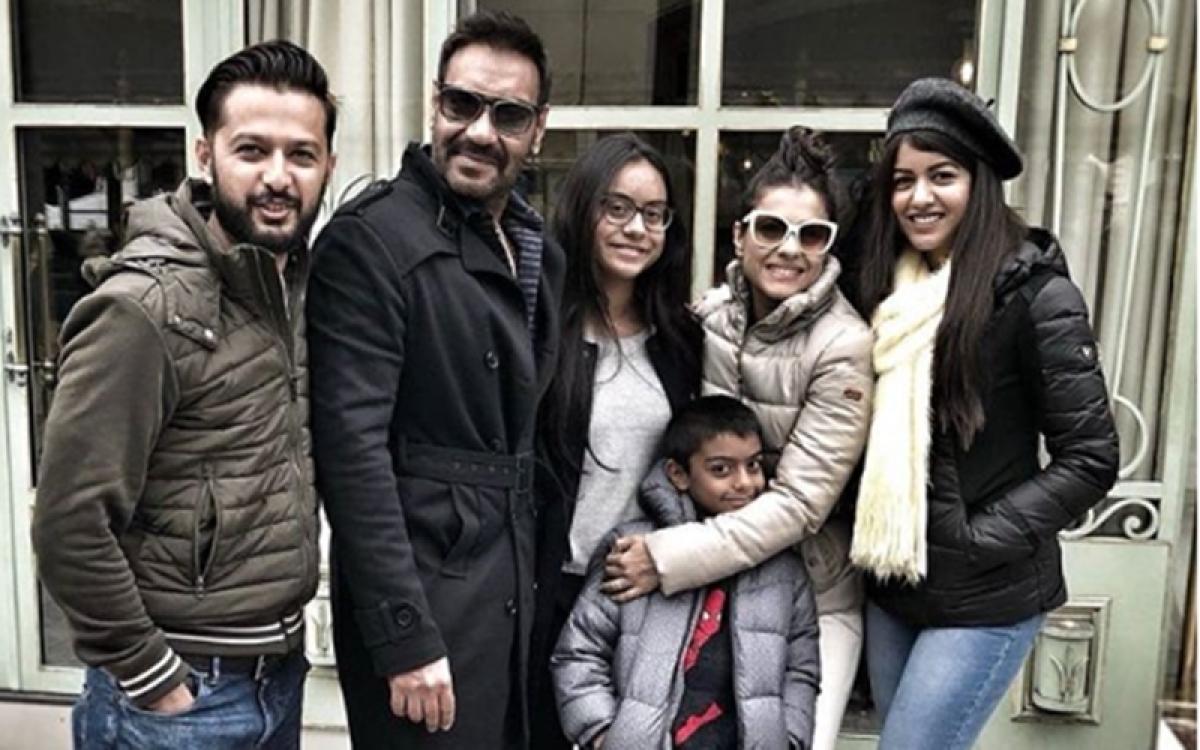 Ajay Devgn celebrates birthday in Paris with Kajol, kids and Vatsal Sheth; see pics