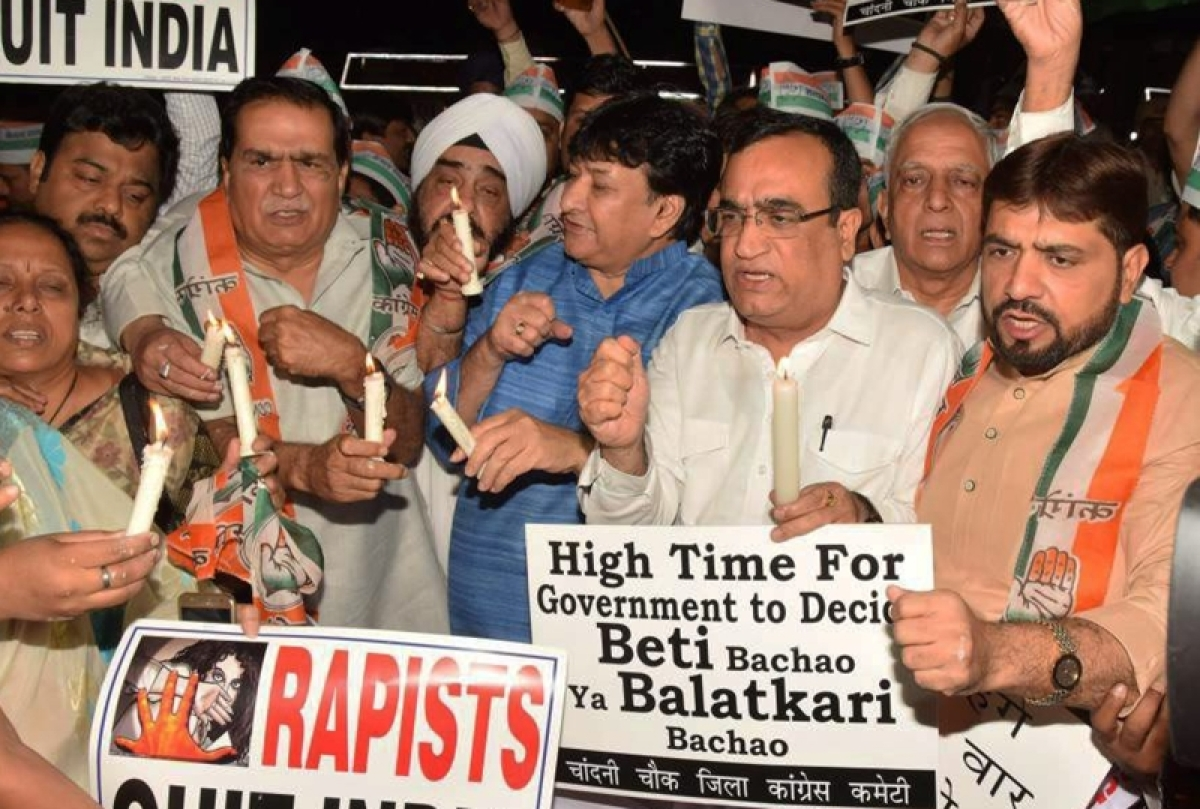 Delhi Congress organises candlelight march over rape cases