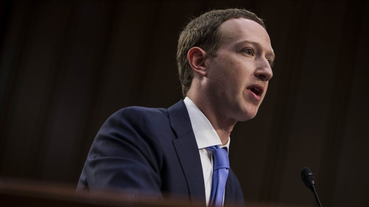 Facebook co-founder, Chairman and CEO Mark Zuckerberg testifies before a combined Senate Judiciary and Commerce committee. (file image)