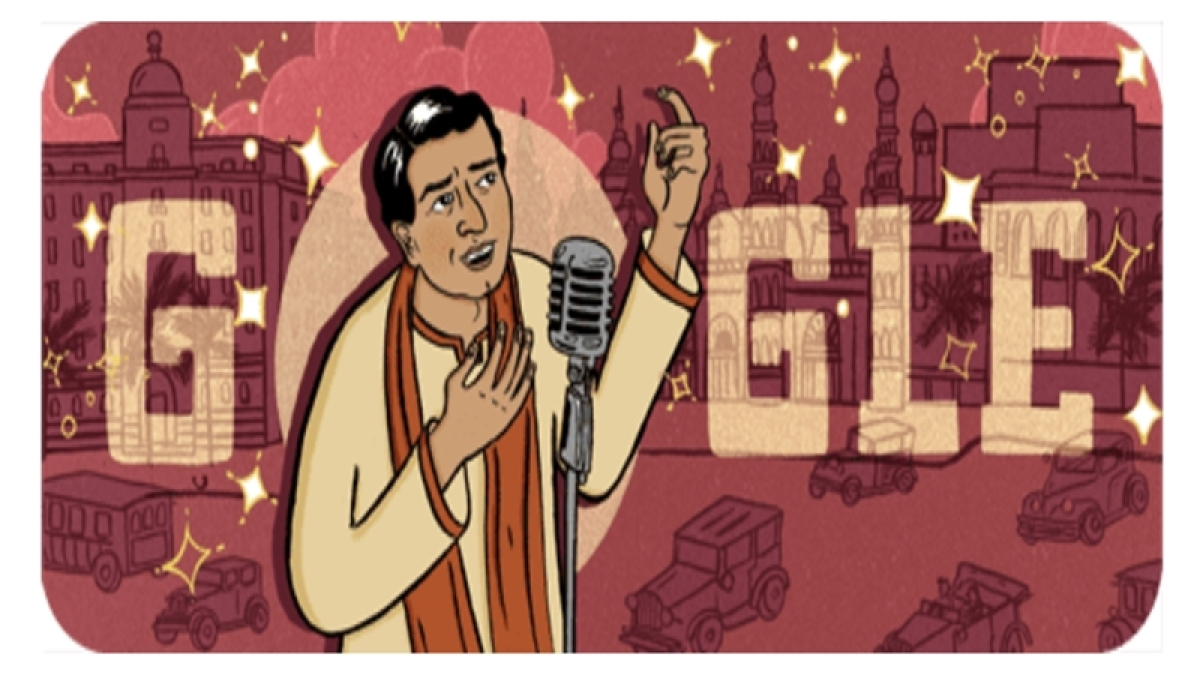 Google pays tribute to KL Saigal with special Doodle on his 114th birth anniversary