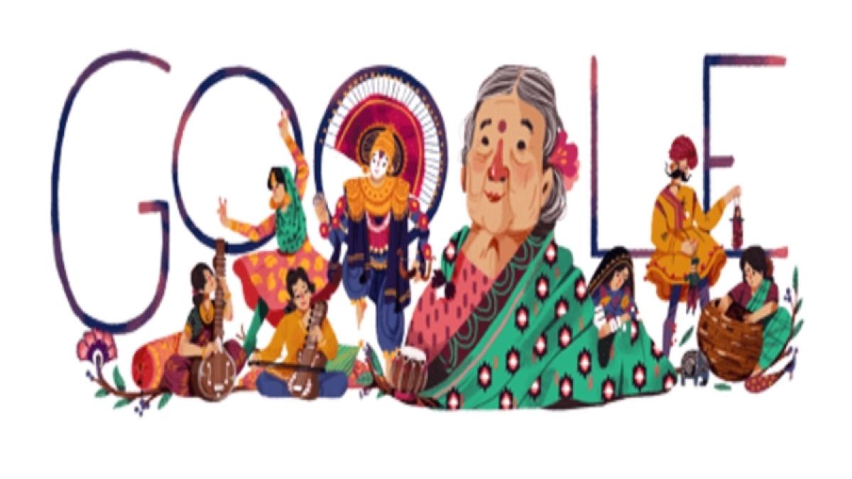 Google Doodle marks Kamaladevi Chattopadhyay's 115th birth anniversary