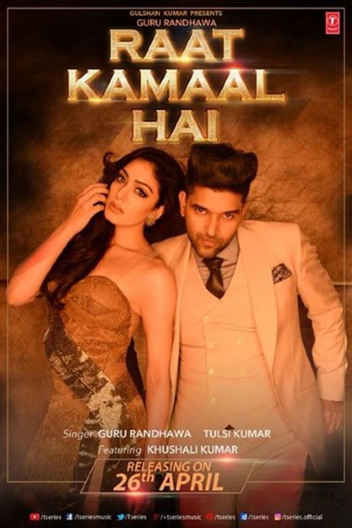 Artist Guru Randhava's new song 'Raat Kamaal Hai' is out and already has more than 1,000,000 views